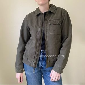 VINTAGE Plaid Lined Utility Jacket Insulated S
